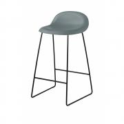 Gubi - 3D Barstool Sledge Base 65 cm Rainy Grey | Black