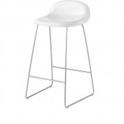 Gubi - 3D Barstool Sledge Base 65 cm White Cloud | Chrome