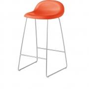 Gubi - 3D tabouret de bar luge 65 cm Orange | Chromé