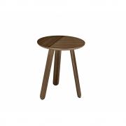 Gubi - Paper Side Table Ø 42 cm | Walnut