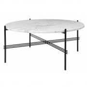 Gubi - TS table basse ronde Ø 80 cm | Marbre Blanc | Noir