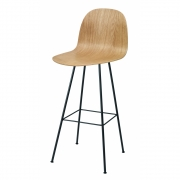 Gubi - 2D Bar Stool with Backrest