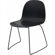 Gubi - 2D Cadeira De Patins Fraia Preta Preto | Preto
