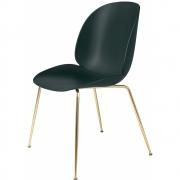 Gubi - Beetle Dining Chair Cadeira Verde | Latão