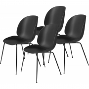 Gubi - Beetle Dining Chair Cadeira (Conjunto De 4) Preto