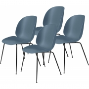 Gubi - Beetle Dining Chair Cadeira (Conjunto De 4) Cinzento Azul