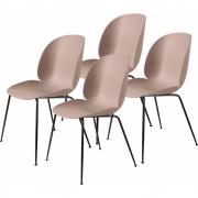 Gubi - Beetle Dining Chair Cadeira (Conjunto De 4) Sweet Rosa