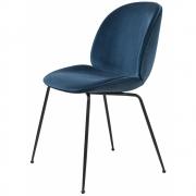 Gubi - Beetle Dining Chair Gepolstert Gestell Schwarz Dandy 602