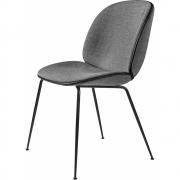 Gubi - Beetle Dining Chair Com Almofada Suporte Preto