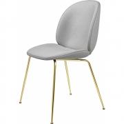 Gubi - Beetle Dining Chair Com Almofada Suporte Latão