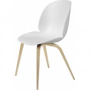 Gubi - Beetle Dining Chair Cadeira Com Suporte De Madeira
