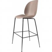 Gubi - Beetle Bar Chair Banco de bar Sweet Pink   Preto