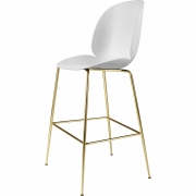Gubi - Beetle Bar Chair Barhocker Reinweiß | Messing