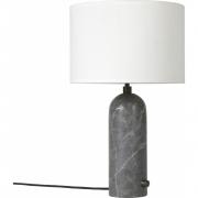 Gubi - Gravity Candeeiro de mesa Pequeno | Branco | Mármore Cinzento