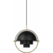 Gubi - Multi-Lite Pendant Lamp Brass - Charcoal Black