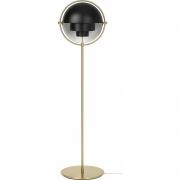 Gubi - Multi-Lite lampadaire Noir (Base en laiton)
