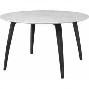 Gubi - Mesa de jantar mármore redonda Branco