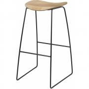 Gubi - 2D Barstool Sledge Base 75 cm | Oak | Black