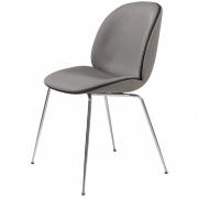 Gubi - Beetle Dining Chair Upholstered Chrome Frame