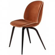 Gubi - Beetle Dining Chair Upholstered Smoked Oak