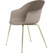 Gubi - Bat Dining Chair ungepolstert Messing Beige