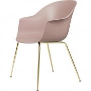 Gubi - Bat Dining Chair Cadeira sem estofado latão Rosa