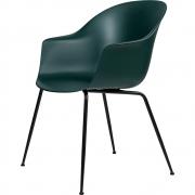 Gubi - Bat Dining Chair Cadeira sem estofado latão Verde escuro