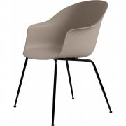 Gubi - Bat Dining Chair Cadeira sem estofado latão Bege