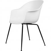 Gubi - Bat Dining Chair Cadeira sem estofado latão Branco