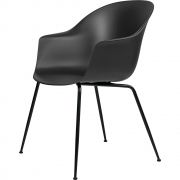 Gubi - Bat Dining Chair Un-Upholstered black