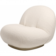 Gubi - Pacha fauteuil avec bogie Blanc Karakorum - Gold