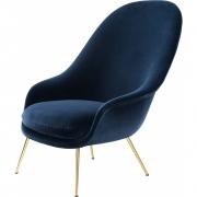Gubi - Bat Lounge Chair High back Conic Base