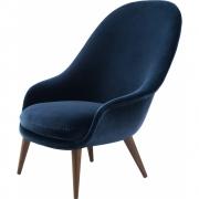 Gubi - Bat Lounge Chair High back Wood Base