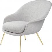 Gubi - Bat Lounge Chair Low back Conic Base