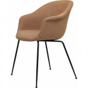 Gubi - Bat Dining Chair Fully Upholstered Conic Black Base