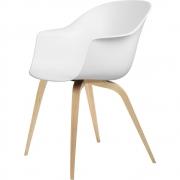 Gubi - Bat Dining Chair Cadeira sem estofos carvalho Branco