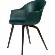 Gubi - Bat Dining Chair Un-Upholstered Smoked Oak