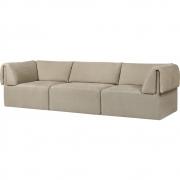 Gubi - Wonder 3-Sitzer Sofa mit Armlehnen