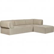 Gubi - Wonder 3-Sitzer Sofa mit Chaise longue