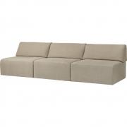 Gubi - Wonder 3-Sitzer Sofa ohne Armlehnen