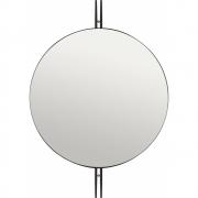 Gubi - IOI Espelho de parede preto Ø80 cm
