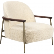 Gubi - Sejour Lounge Chair With armrest Fully Upholstered