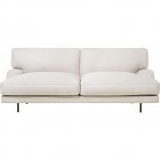 Gubi - Flaneur 2-Sitzer Sofa Chambray 024 (Gestell: Schwarz matt)