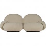 Gubi - Pacha Lounge Sofá de 2 lugares com apoios de braços