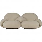 Gubi - Pacha Lounge Sofá de 2 lugares com apoio de braços incl. apoio de braços do meio