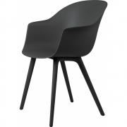 Gubi - Bat Dining Chair Cadeira moldura de plástico monocromo Preto