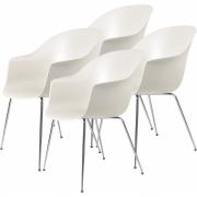 Gubi - Bat Dining Chair Cadeira sem estofos em cromado (conjunto de 4)