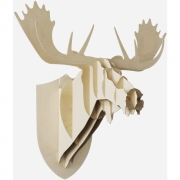 Moustache - Moose wooden Trophy