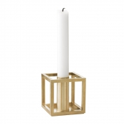 by Lassen - Kubus 1 Candleholder Brass