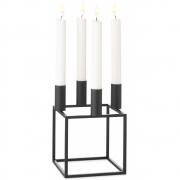 by Lassen - Kubus 4 Kerzenständer Schwarz